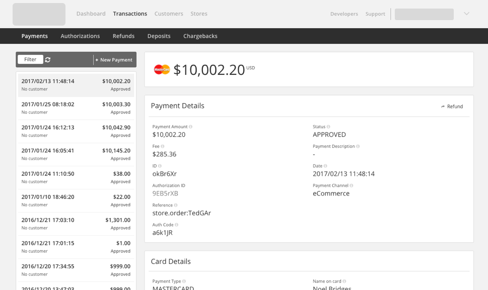 Payment view in CommBank Simplify